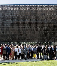 Over 75 newspaper publishers from across the United States — all members of the National Newspaper Publishers Association — tour the National Museum of African American History and Culture in D.C. on Sept. 14.