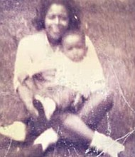 Washington Informer Editor D. Kevin McNeir with his mother, Edna McNeir Baker, in their backyard in Detroit in 1963