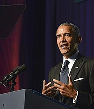 "During his keynote address at the 2016 Phoenix Awards gala, President of Barack Obama said: ""My name may not be on the ballot, but our progress is on the ballot. Democracy is on the ballot. Justice is on the ballot."""