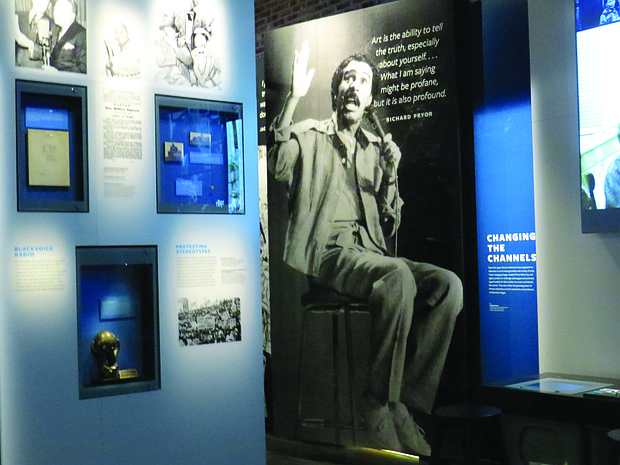 Exhibits include the complex story of slavery and freedom as well as the creative achievements of black entertainers like comedy legend Richard Pryor.