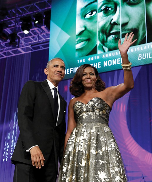 """President Obama had barely begun his remarks Saturday night before shouts of """"I love you!"""" came from the audience, tributes ..."""