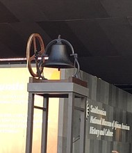 The ringing of the bell from the historic First Baptist Church in Williamsburg, Virginia, is one of the highlights of the dedication ceremony at the Smithsonian National National Museum of African American History and Culture in D.C. on Sept. 24.