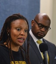 April Goggans, who represents the Black Lives Matter movement in Washington, D.C., said that the narrative about the killings of Black men and women at the hands of those sworn to protect them is still being controlled by mainstream media. (Freddie Allen/AMG/NNPA)
