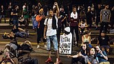Demonstrators take part in a protest Sept. 22, 2016, in Charlotte, N.C., over the fatal police shooting of 43-year-old Keith Lamont Scott. SEAN RAYFORD/GETTY IMAGES