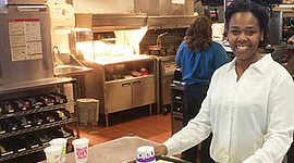 Cameo Faust worked her way up from crew person to general manager at a McDonald's franchise in the Atlanta-area. Faust also attends McDonald's Hamburger University.