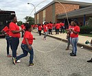 Students jumped rope at the Block Party, the culminating event of Y2Y Week that brought students and staff together for an afternoon of fun.