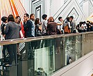 """Partygoers line up to see Christian Marclay's artwork """"The Clock."""""""