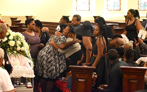 Homegoing for the Hon. Johnnie Mae Johnson, 70th AD district leader, PTA president and Model Cities member. It was held ...