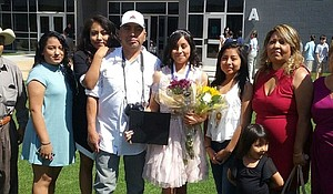 Maryflor Peña with her family