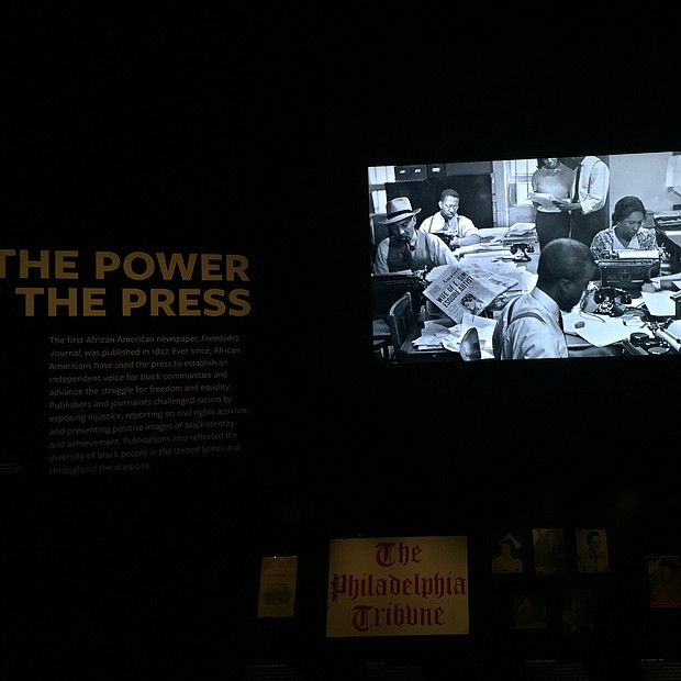 The New York Amsterdam News featured in the Power of the Press exhibit
