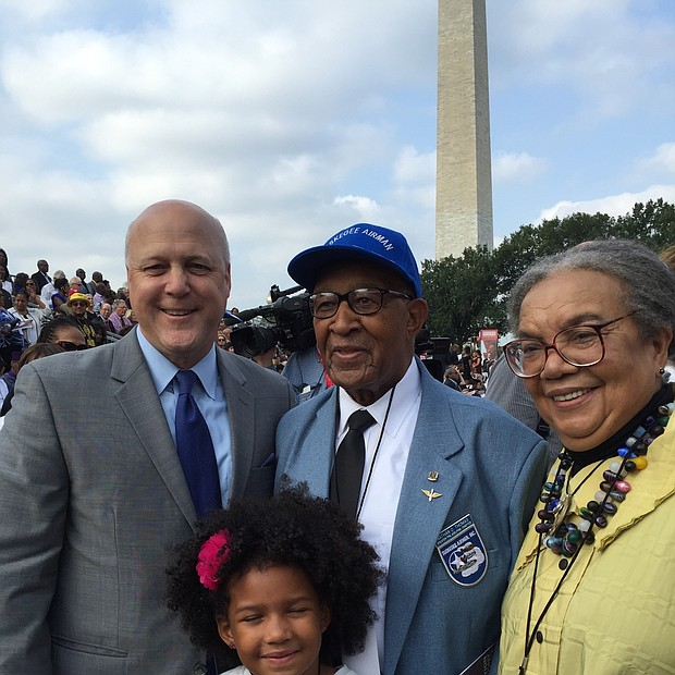 Mitch Landrieu, Mayor of New Orleans, one of the Tuskegee Airmen, Marian Wright Edelman and Willa