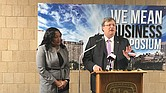 The numbers tell the story about the need to increase small, minority and women-owned businesses, with Mayor Jim Strickland on Wednesday saying things have got to change. (Photo: Montee Lopez)