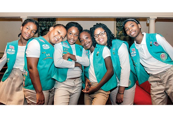 For the first time in the troop's history, six members of Girl Scout Troop 35 at Ebenezer Baptist Church have ...