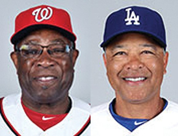 Major league baseball's lone African-American managers are on a collision course. Both the Washington Nationals' first-year skipper Dusty Baker, and ...