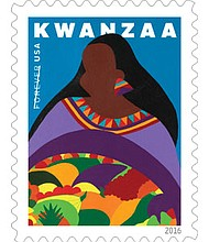 A first-day-of-issue ceremony for the Kwanzaa Forever stamp takes place on Saturday, October 1, 2016 at Marion Square, 329 Meeting Street in Charleston, South Carolina at the MOJA Art Festival.
