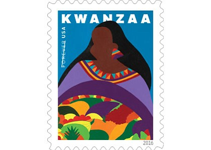 With this vibrant new stamp design, the U.S. Postal Service continues its tradition of celebrating Kwanzaa.