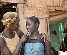 "Lupita Nyong'o Harriet Mutesi and Madina Nalwanga as Phiona in ""Queen of Katwe"""
