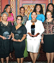 The Baltimore Times recognized 'Women of Passion, Women of Purpose' at the Positive People Awards ceremony held Thursday, September 22, 2016. First row, (l-r): Reverend Bernette L. Jones: Tiffany Welsh; Chere Goode; and Joy Bramble, Publisher, The Baltimore Times amd The Annapolis Times; Second row, (l-r): Veronica Stone-Elder; Vicki L. Jones; Nykidra L. Robinson; and Jasmine Arrington.