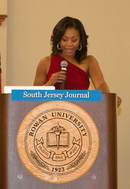 Mistress of Ceremonies Cherri Gregg, community affairs reporter for KYW Newsradio, gives opening remarks.