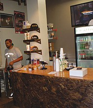 A sneaker theme inspired the young and creative entrepreneur Ian Williams (left) to open his Deadstock Coffee business the heart of Chinatown at 408 N.W. Couch St.