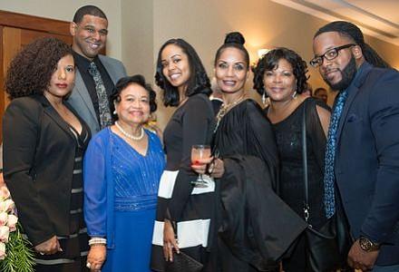 Tiffany and Brian Grandison, Gwen Devra, Jasmine Haynes, Loretta Winters (Honoree), Latanya Nelson, Kenneth Scott.