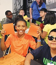 A hands-on computer coding experiment is part of the fun when from the Boys and Girls Club visit Google of Portland.