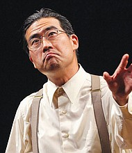 """Ryun Yu stars in """"Hold These Truths,"""" a play about a civil rights hero from Seattle who fights government orders during World War II to forcibly remove and mass incarcerate all people of Japanese ancestry on the West Coast."""