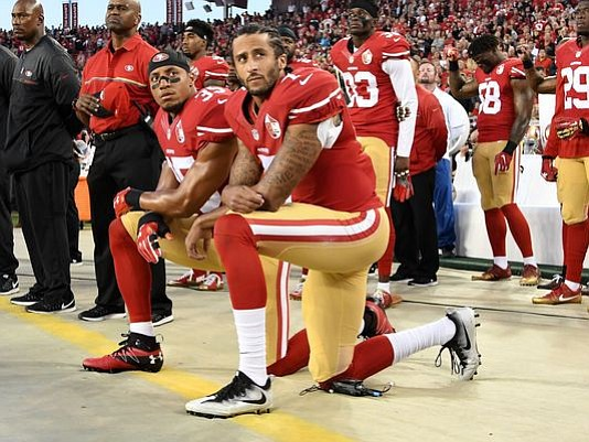 "GQ named former 49ers quarterback Colin Kaepernick its ""Citizen of the Year"" for starting the protest that became a movement ..."