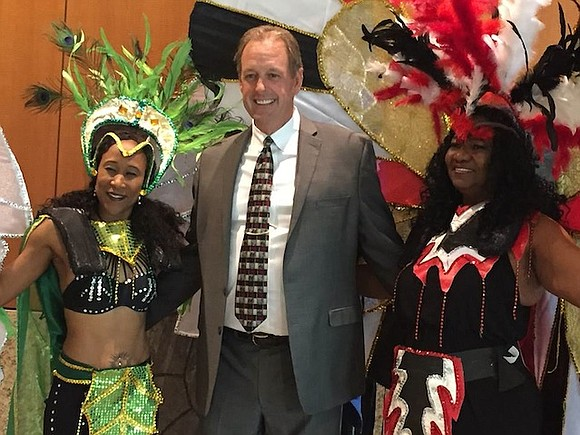 Members of the Las Vegas Valley's growing Latin, Caribbean and West Indian community were joined by North Las Vegas City ...