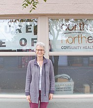 Dr. Jill Ginsberg oversees the remodeling of a commercial space at 714 N.E. Alberta St. into new medical offices and the future home of her North by Northeast Community Health Center, a free and low cost clinic to serve the under-respected and underserved.
