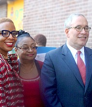Council Member Laurie A. Cumbo, Betty Perry and Comptroller Scott Stringer