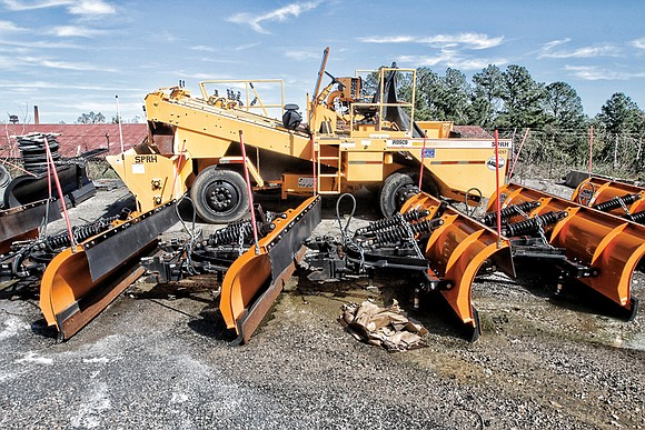 Expensive equipment sits unused at the Richmond Department of Public Works' compound on Hopkins Road. Meanwhile, some vehicles and equipment ...