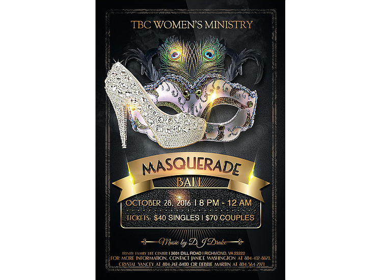 e8808cb042 The Women s Ministry of Trinity Baptist Church is hosting its second Masquerade  Ball 8 p.m. to