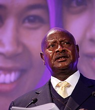 Uganda's dictator General Museveni. He and Rwanda's General Kagame launched a war of aggression against the Congo.