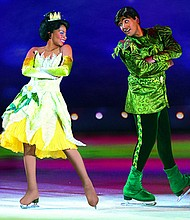 "Hope Alexander portrays Princess Tiana in the latest Disney on Ice production, ""Follow Your Heart."" Courtesy Photo/Walt Disney Company"