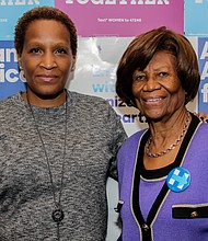 Rose Pierre-Louis and New York State NAACP Conference President Hazel Dukes.