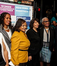 Several Black politicians including Council Member Inez Dickens and Congressman Charlie Rangel gathered in Harlem Thursday night for a fundraiser for Democratic presidential candidate Hillary Clinton.