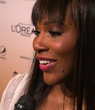 File- Serena Williams speaks to CNN on the red carpet of the 2011 Essence Black Women of Hollywood Awards.