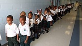 Kindergartners at Dr. Martin Luther King Jr. Charter School in New Orleans in 2007