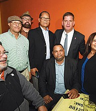 Mayor Martin Walsh attends Hispanic Heritage Restaurant Week Kick Off at Rincon Caribeno in Hyde Park. Mayor Walsh offered brief remarks and welcomed members of the Latino community.