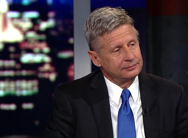 gary johnson denies the election is rigged or that he was high for