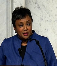 Dr. Carla Hayden made history in September when she was sworn in as the first African-American and female librarian of Congress. But the nomination and swearing-in process was only the beginning for her 10-year term. Hayden's plans for the library extend beyond the bookshelves -- she wants to bring the contents of the library to people who might not have direct access to the physical building in the nation's capital.