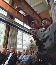 Multnomah County commissioners, state lawmakers, judges and many other guests attend an Oct. 4 groundbreaking ceremony for a new central courthouse, downtown. The county is reaching out to the public as it recruits a diverse group of workers to build the $300 million, 17-story building.
