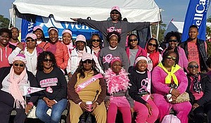 First Central Baptist Church spiritual warriors (front row, let to right) Linda Cray (survivor), Deacon Sylvia Byrd, Alice Hudson (survivor), Antoinette Donegan, (team leader), Ann Felix (survivor), Gail Richards, Linda Cohen, Joanie Godette, (back row left to right) Zendra Smalls, Tequilla Dixon, Lakeisha Owens, Laquida Lawson, Nicole Jones, Deacon Deneen Sims, Beverly Connors, Christine Brown, Jackie Johnson, Rebecca Collins, Sylvia Byrd, Diadrain Clarke-Reide and Horatio Reide.