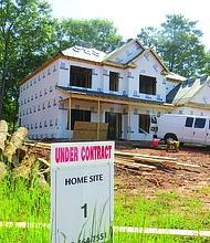 Silverstone Residential has five new homes under construction in the Hilson Landing subdivision off of Rainbow Drive in Decatur.