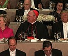 Donald Trump on Thursday night immediately went after Manhattan's elite as he opened the irreverent Al Smith dinner -- with Hillary Clinton set to speak later.