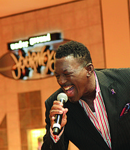Entertainment at the expo included singer E. Walter Smith.