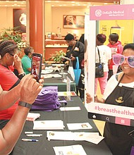 Exhibitors such as DeKalb Medical provided information, screenings and just plain fun at the expo.