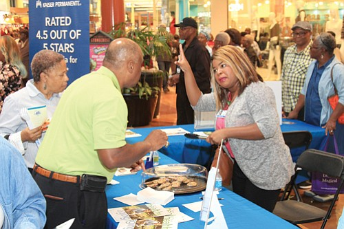 Exhibitors such as Kaiser Permanente provided information, screenings and just plain fun at the expo.