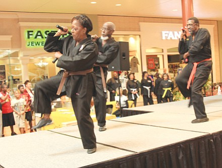 Entertainment at the expo included a martial arts demonstration from the Lou Walker Senior Center.